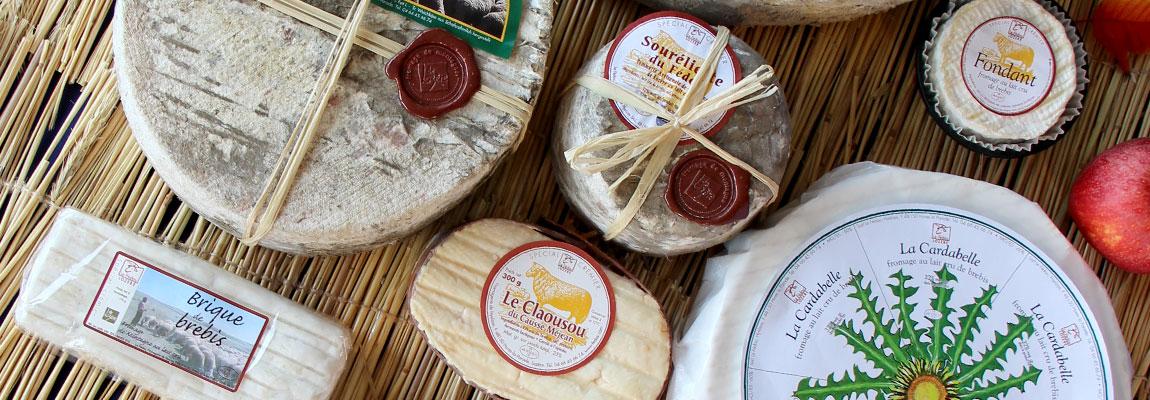 Nos bons fromages au lait cru de brebis.